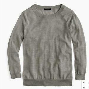 J. Crew Tippi Gray marino wool Sweater size medium